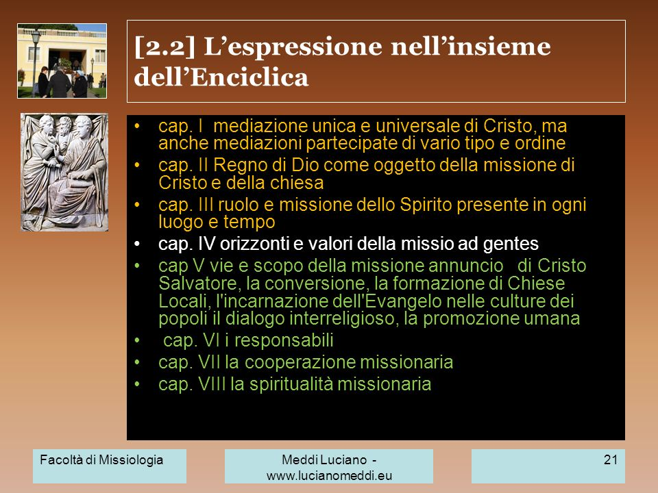 [2.2] L'espressione nell'insieme dell'Enciclica